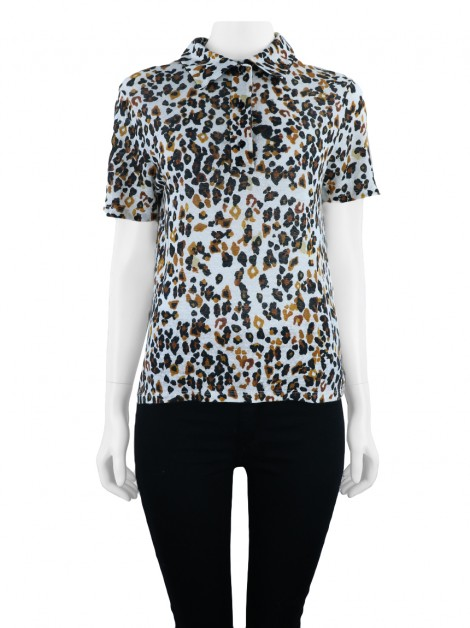 Blusa Sissa Polo Animal Print