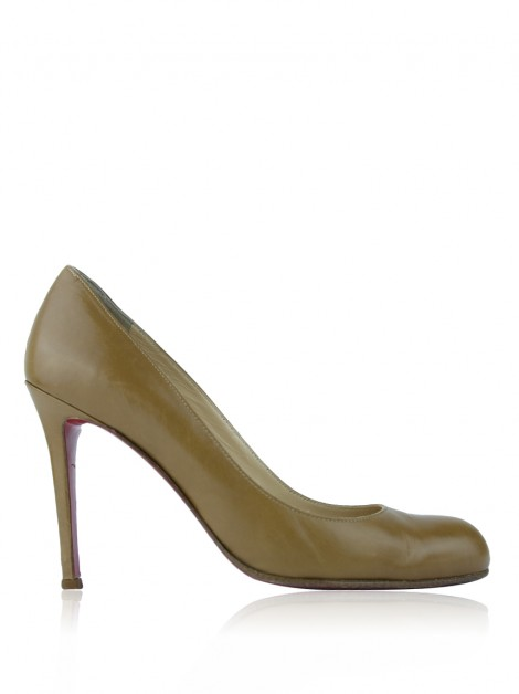 Sapato Christian Louboutin Simple Pump 100 Caramelo