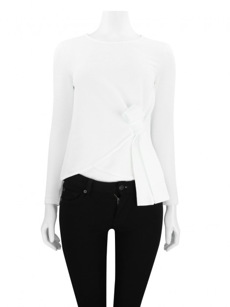 Blusa Club Monaco Laço Off White