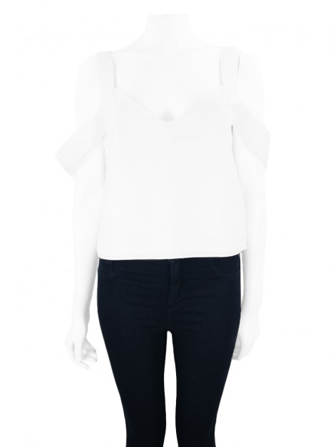 Blusa Mixed Cropped Branco