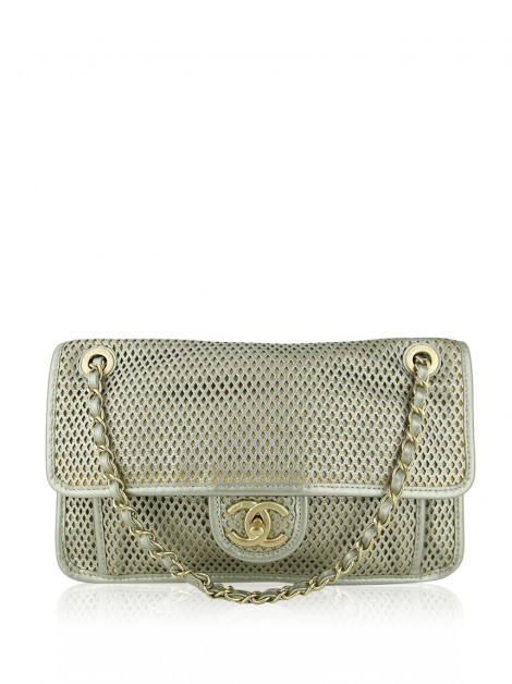 Bolsa Chanel Up In The Air Flap Light Gold