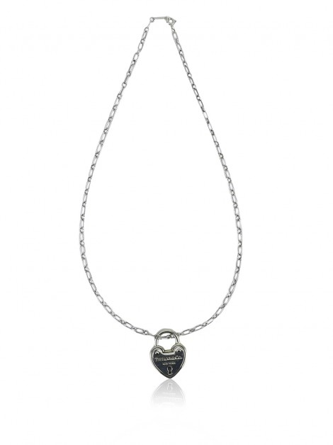 Colar Tiffany & Co Lock Heart Prateado