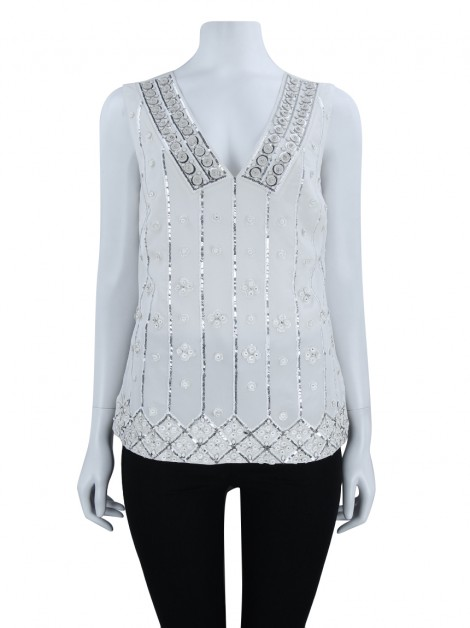 Blusa Tory Burch Seda Bordada