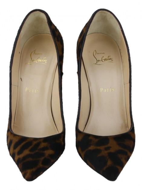 Sapato Christian Louboutin So Kate Pony Hair Leopard Black
