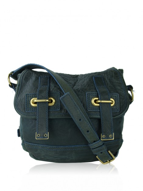 Bolsa Yves Saint Laurent Mini Besace Messenger Verde