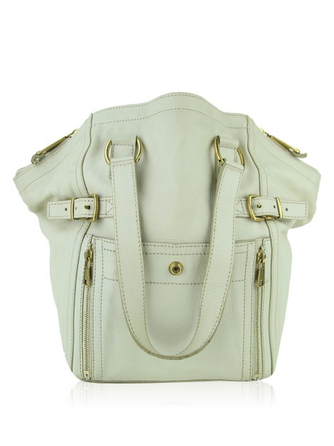 Bolsa Yves Saint Laurent Small Downtown Creme