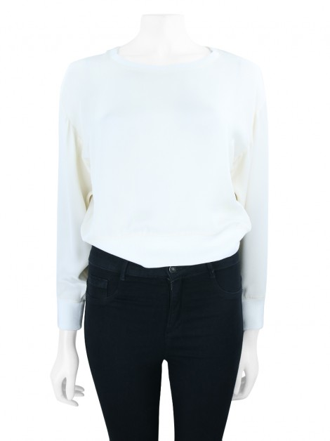 Blusa Achados do EU Theysken's Theory Seda Off White