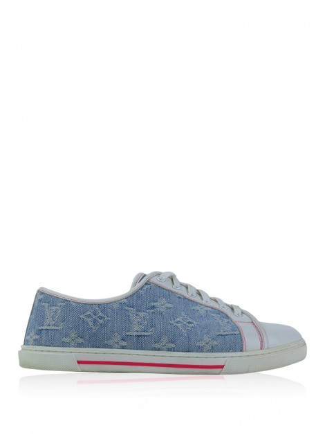 Tênis Louis Vuitton Low-Top Denim