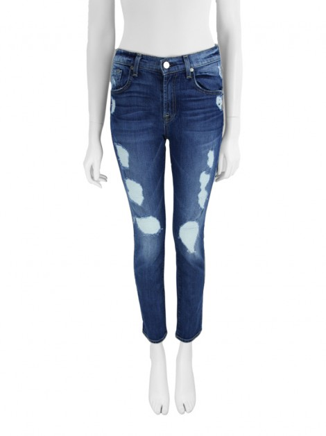 Calça Seven For All Mankind The Relaxed Skinny Destroyed