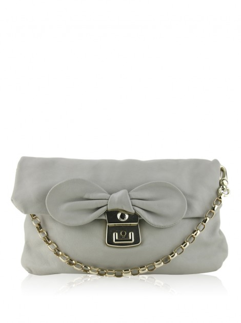 Clutch Marc By Marc Jacobs Couro Cinza