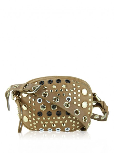 Bolsa Marc By Marc Jacobs Tan Studded Caramelo
