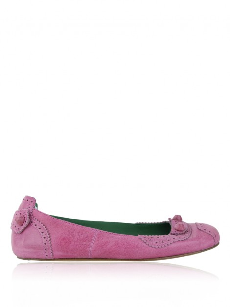 Sapatilha Balenciaga Brogue Leather Arena Studded Rosa