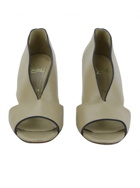 Sapato Christian Louboutin Creve Couer 70 Bege