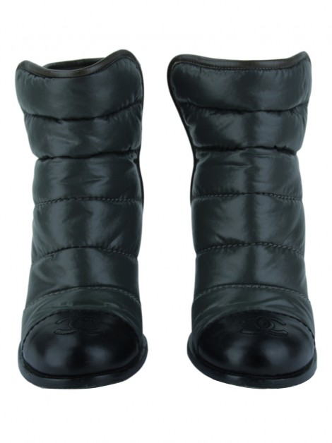 Bota Chanel Puffer CC Ankle Boots