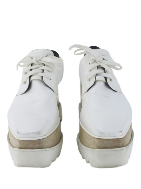Plataforma Stella Mccartney Elyse Cut-Out Branco