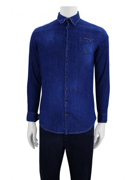 Camisa Dsquared2 Denim Puídos