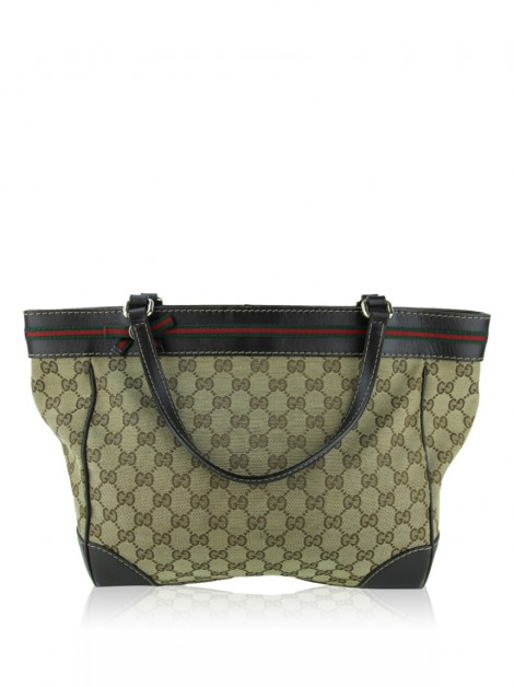 Bolsa Gucci GG Canvas Mayfair Bow Marrom