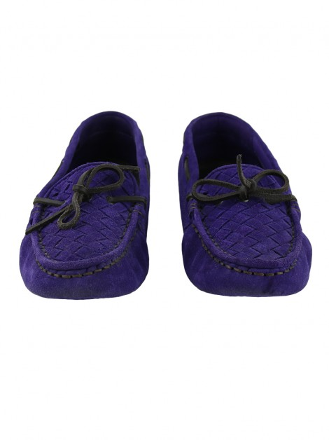 Loafer Bottega Veneta Intrecciato Wave Driver Roxo