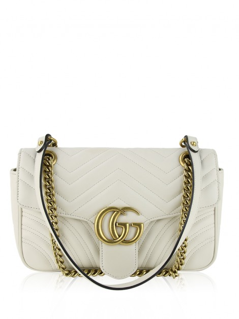 Bolsa Gucci GG Marmont Small Off-White