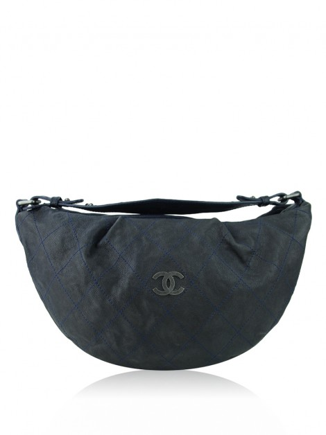 Bolsa Chanel Outdoor Ligne Hobo Cinza