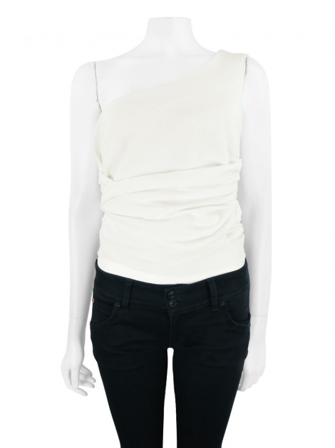 Blusa S Club Cropped Off White