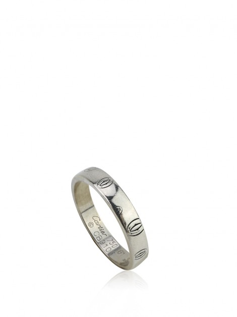 Aliança Cartier Happy Birthday Ring Ouro Branco 18K
