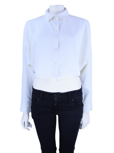 Camisa Paula Raia Cropped Off White