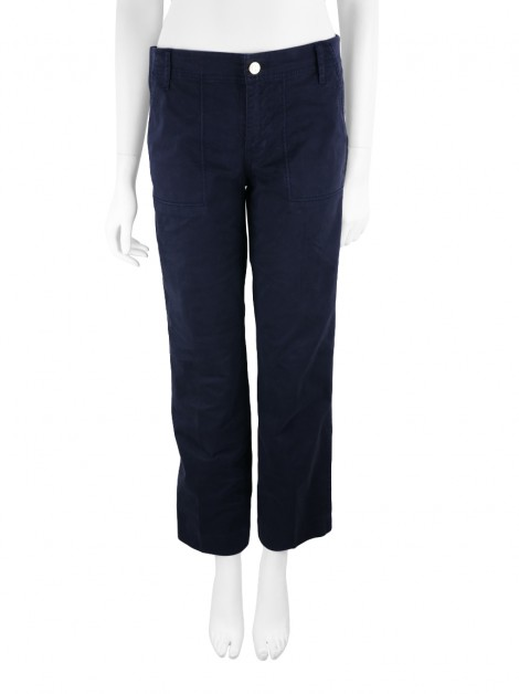Calça Tory Burch Fatigue Chino Azul