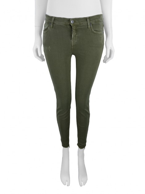 Calça Seven For All Mankind The Skinny Crop Unrolled