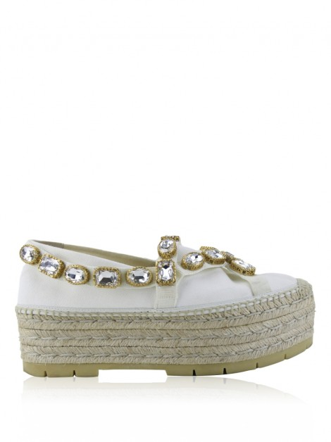 Plataforma Gucci Pillar Canvas Branco