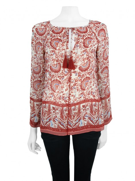 Blusa Tory Burch Red Print Blouse