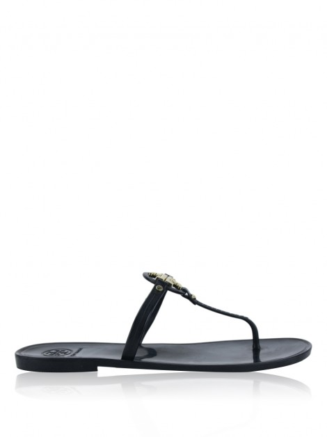 Rasteira Tory Burch Mini Miller Jelly Preto
