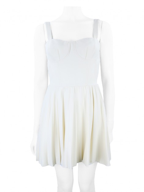 Vestido Christian Dior Pleats Creme