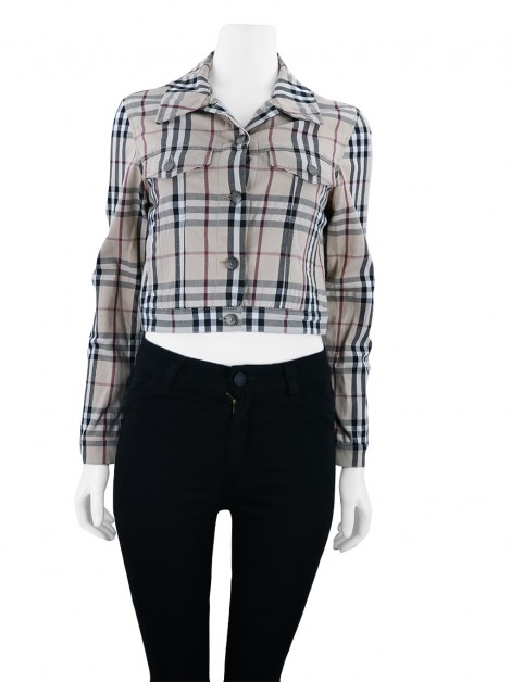 Jaqueta Burberry Cropped Check