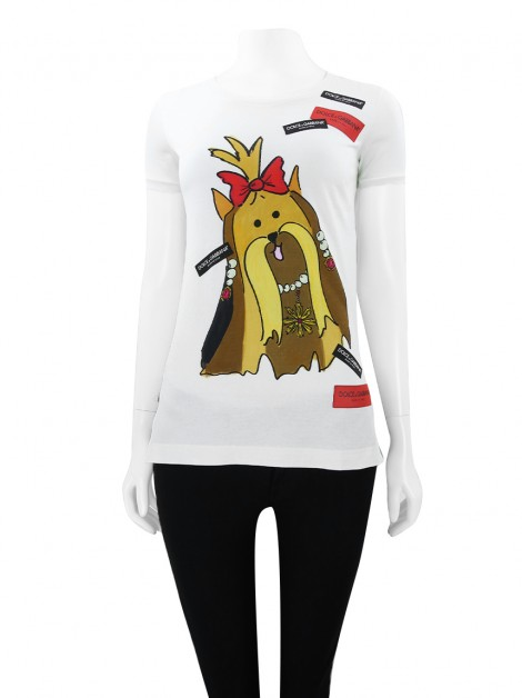 Blusa Dolce & Gabbana Year Of The Dog Branco