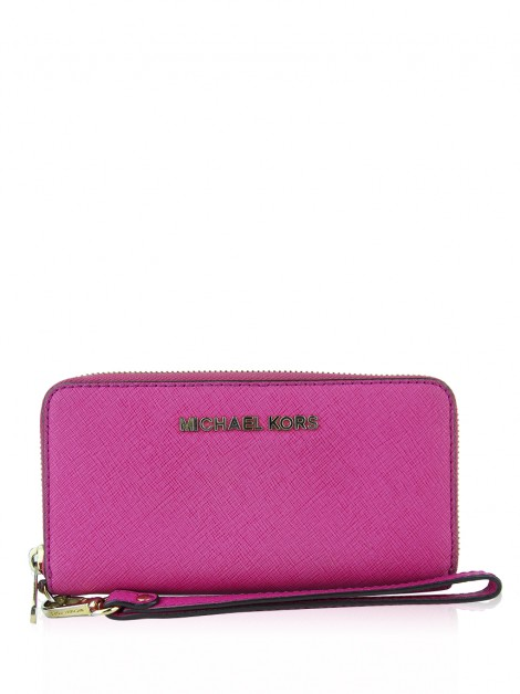 Carteira Michael Kors Jet Set Travel Smartphone Pink