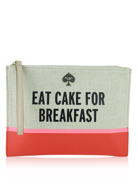 Necessaire Kate Spade Canvas Estampado