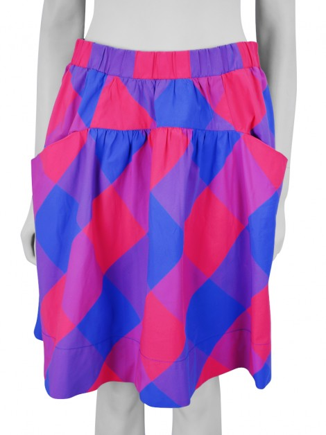 Saia Marc By Marc Jacobs Stacy Check Neon