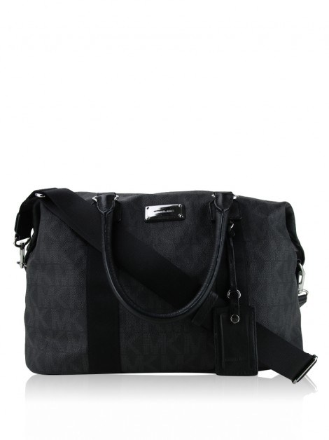 Mala Michael Kors Duffle Jet Set Canvas Grafite