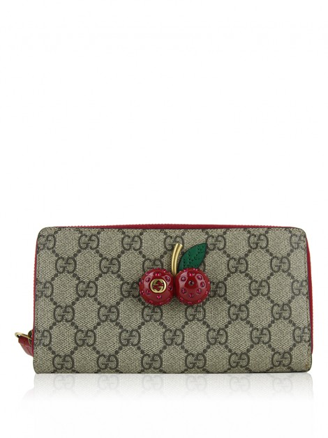 Carteira Gucci Guccissima Cherries