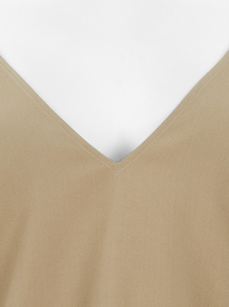 Blusa NK Store Crepe Bege