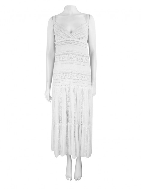 Vestido Achados do EU Willow & Clay Longo Off White