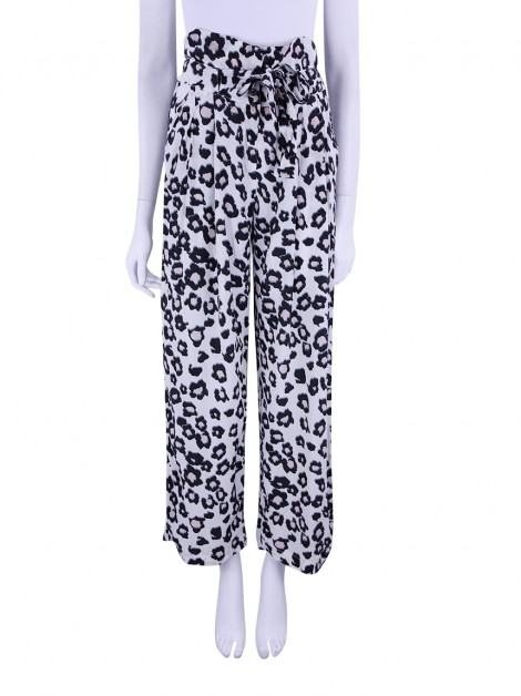 Calça Cruise Seda Animal Print