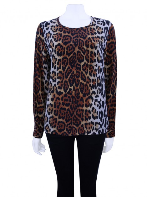 Blusa Equipment Seda Leopardo