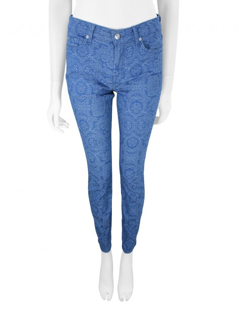 Calça Seven For All Mankind Jeans Estampada Azul