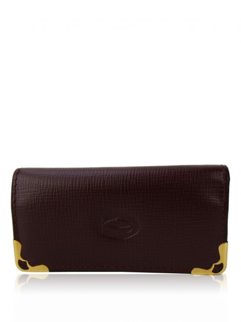 Porta Chaves Cartier Couro Burgundy