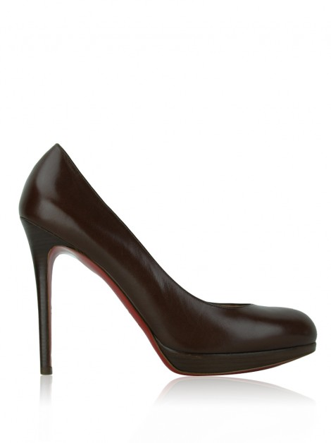 Sapato Christian Louboutin New Simple Pump 120 Marrom