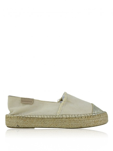 Espadrille Mint & Rose Almafi Creeper Creme