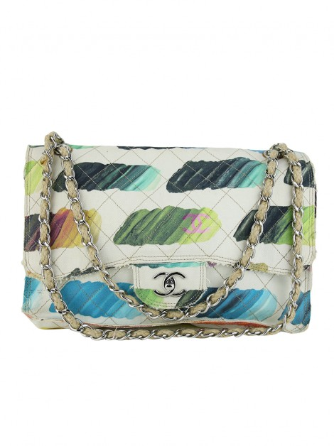 Bolsa Chanel Canvas Jumbo Colorama