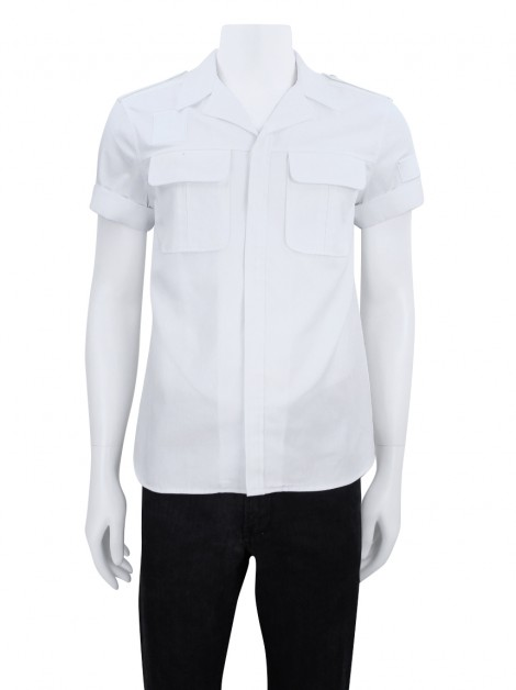 Camisa Neil Barrett Loose Fit Off White